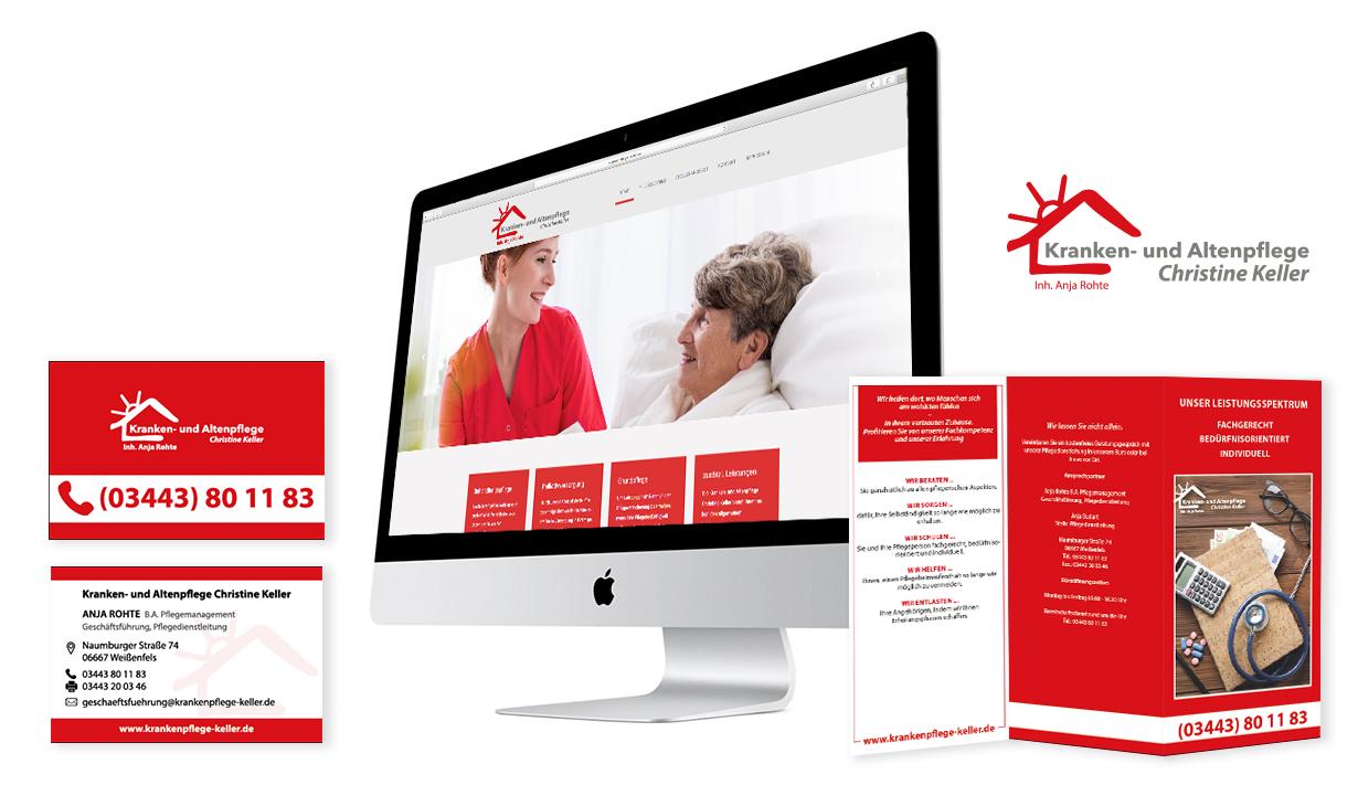 Corporate Design Kranken- und Altenpflege Christine Keller