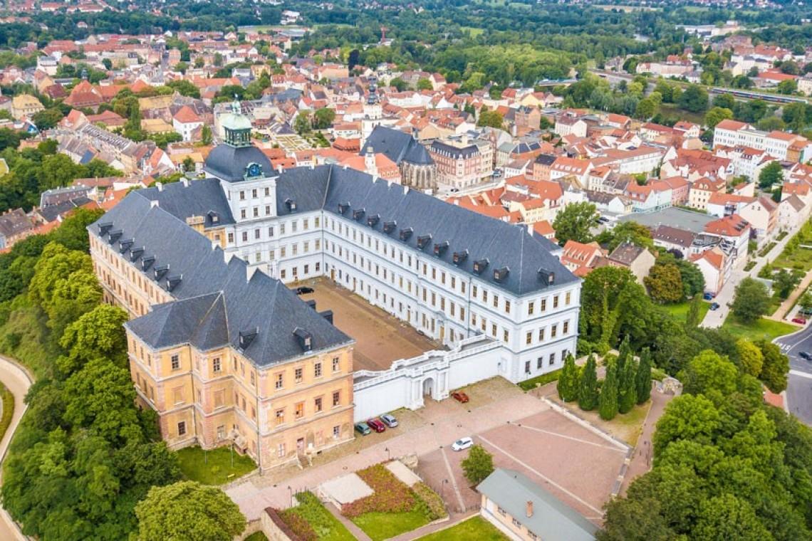 Drohnenaufnahme Schloss Neu-Augustusburg